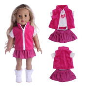 For American Girl Doll Jeans Clothings,Cute Wyurhjh® Lifelike Newborn Baby Dolls' T-shirt Coats and Skirt Setfor 46cm Our Generation Reborn Pop Toy