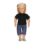 Dolls Clothing, MML Casual T-shirt Jeans Pants Fit For 46cm Our Generation Boys Doll