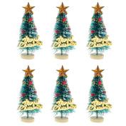 "MagiDeal 10pcs 1/12 Dollhouse Miniature Christmas Trees ""Merry Christmas"" Letters Board"