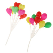 MagiDeal 2 Pieces Colourful Balloons 1/12 Dollhouse Miniature Dolls Accessories