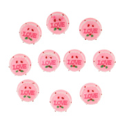 MagiDeal 10pcs Pink Love Cake Dollhouse Miniatures Bakery Sweet Food Handmade Accessory 1/12th