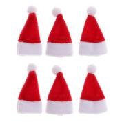 MagiDeal 6pcs 1/12 Scale Santa Claus Hat Dollhouse Miniature Christmas Accessories