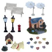 EdaEve 21 PCS Miniature Warm Home – Dogs Animals Figurines Statues Dolls Dollhouse Figures for Micro Landscape World