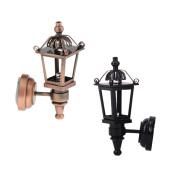 MagiDeal 2X Vintage LED Light Wall Lamp Lighting wi/ Battery 1:12 Dollhouse Miniature