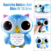 Galaxy Squishy Toy , YOYOUG 15cm Lovely Galaxy Owl Cream Scented Squishy Slow Rising Squeeze Relieves Stress Soft Cartoon Squishy Unique Toy Collection