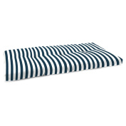 Jordan Manufacturing 110cm . French Edge Outdoor Bench Cushion - Stripe Oxford
