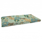 Jordan Manufacturing 110cm . French Edge Outdoor Bench Cushion - Button Blooms