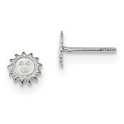 Sterling Silver Sun Post Earrings