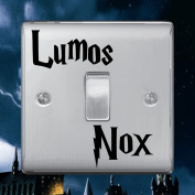"""Lumos Nox"" (On & Off) Lightswitch Vinyl Decal Sticker by Inspired Walls®"