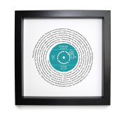 Personalised Lyrics Record Print - Styled As a Vinyl Record, Any Song Words Framed With Personalised Label That Looks . a Vinyl Record