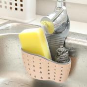 Hunpta Sink Shelf Soap Sponge Drain Rack Bathroom Holder Kitchen Storage Suction Cup