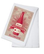 Illinois - Hard Apple Cider - Lantern Press Artwork