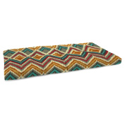 Jordan Manufacturing 100cm . Boxed Outdoor Bench Cushion - On the Rise Fiesta