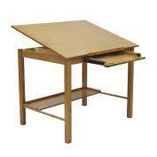 Offex Americana II Light Oak Wood 90cm x 120cm Drafting Craft And Hobby Table