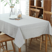 THUNFER Tablecloths Cotton Tablecloths Waterproof Family Use Hotel Tablecloths Cloth Tablecloths Christmas Tablecloths,Grey-51.2*180cm