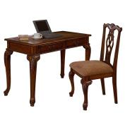 Ore International Fairfax 120cm . Writing Desk & Chair Set - Dark Walnut