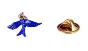 Blue Bird of Happiness Lapel Pin Tie Tack Christian Jewellery Brooch