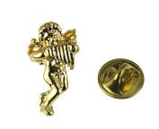 Guardian Angel Music Harp Lapel Pin Christian Jewellery Tie Tack Brooch