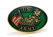 United States Army Tank USA Flags Lapel Hat Pin Military Brass PPM007