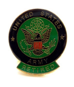 Retired US Army Lapel Hat Pin Gift Military PPM028