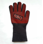 QXWL BBQ Gloves Grilling Cooking Glove 932°F Extreme Heat Resistant Forearm Protection Long Cuff Silicone Grip Baking and Oven Mitts Fire Place Camping Gloves