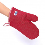 QXWL Non-slip heat-resistant denim thickening gloves oven microwave anti-scald temperature resistant baking gloves kitchen cooking gloves cotton single
