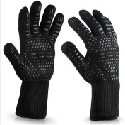QXWL 500 degrees heat insulation BBQ aramid gloves barbecue cooking gloves fireplace gloves microwave baking fire gloves