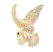 Faship Sparkling AB Crystal Eagle Pin Brooch