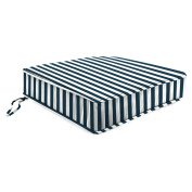 Jordan Manufacturing 60cm . Deep Seat Outdoor Chair Cushion - Stripe Oxford
