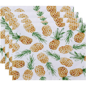 Simply Daisy 46cm x 36cm Tossed Pineapple Geometric Print Placemat