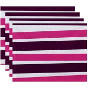 Simply Daisy 46cm x 36cm Stripes Stripe Print Placemat