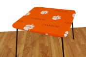 College Covers Fan Shop Clemson Tigers Fitted Card Table Cover - 80cm x 80cm