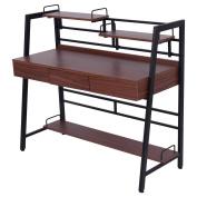 Computer Desk Workstation with Drawer Shelf