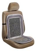 Allison (20-2699GRY) Grey Velour Beaded Seat Cushion