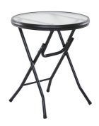 OneSpace Basics 41cm Round Folding Side Table, Clear
