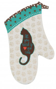 Cats Life All You Need is Love and Cats Kitchen Oven Mitt