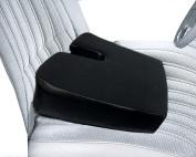 PORTABLE SLANTED orthopaedic WEDGE SEAT CUSHION Black - Improves Posture While Sitting