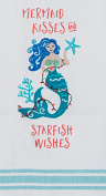 Mermaid Kisses and Starfish Wishes Coastal Holiday Kitchen Tea Towel