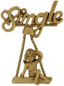 "Danecraft Gold Tone ""Single"" Cupid Valentine's Day Pin Brooch"