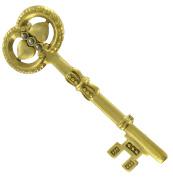 Danecraft Steampunk Skeleton Key Pin Brooch Gold Tone Big 7.6cm