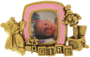"""Danecraft """"It's a Girl"""" Baby Photo Frame Pin Brooch Shower Gift"""