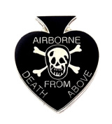 US Army Airborne Death From Above Spade Lapel Hat Pin Military PPM814