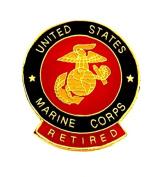 US Marines USMC Retired Marines Insignia EGA Lapel Hat Pin Military PPM016