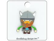 Doodlebug Dragon Tails Enamel Pin Viking