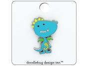 Doodlebug Dragon Tails Enamel Pin Dragon