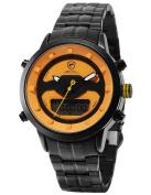 Requiem Shark Men's Stainless Steel Quartz Wrist Watch LCD Date Display Stopwatch Alarm Clock