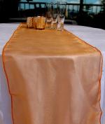 Quasimoon Organza Table Runner - Orange by PaperLanternStore
