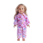 Baby Doll Clothing, MML Pyjamas Nightgown Clothes For 46cm Our Generation Girl Doll Boy Doll
