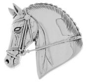 Jewellery Trends Sterling Silver Horse Head Equestrian Brooch Pin