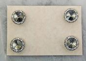 Finishing Touch Magnetic Tack Pin - Black Diamond Stone - Silver Finish